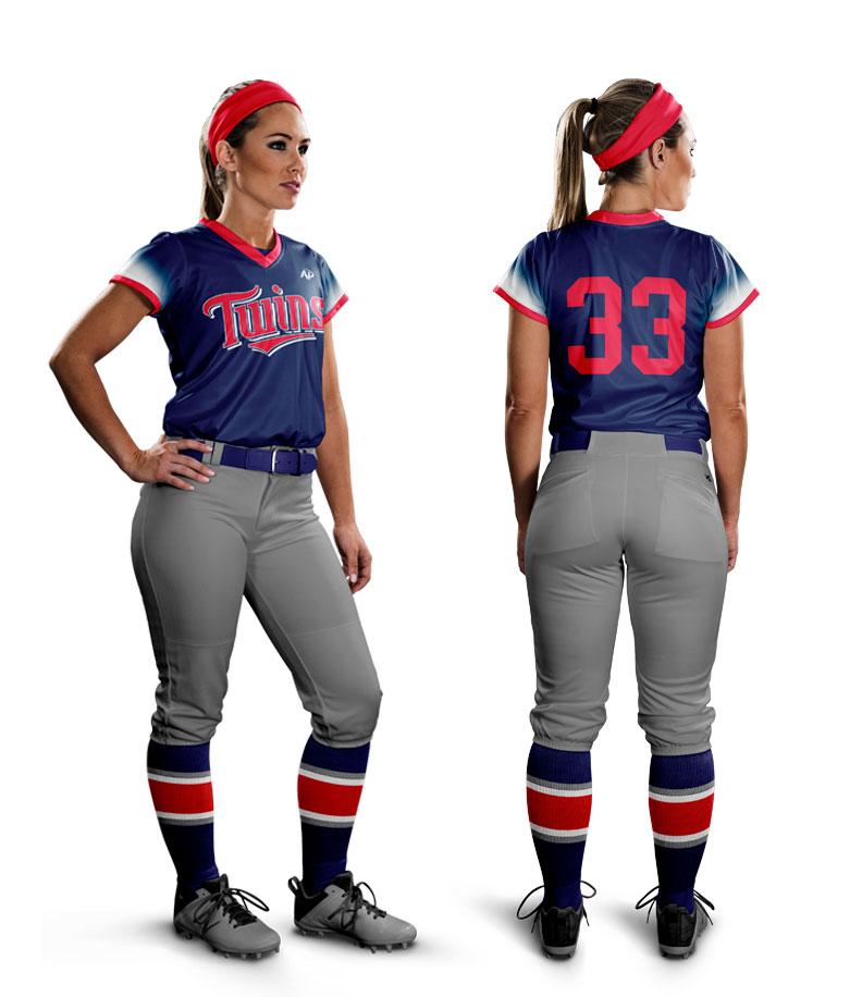 best cheap 87b99 13bff Custom Women's Softball Uniforms | Sample Design C | All Pro ...